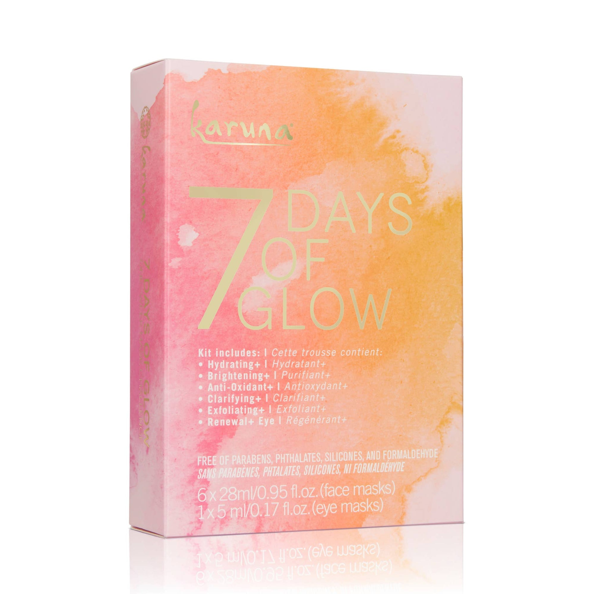 7 Days of Glow Face and Eye Mask set