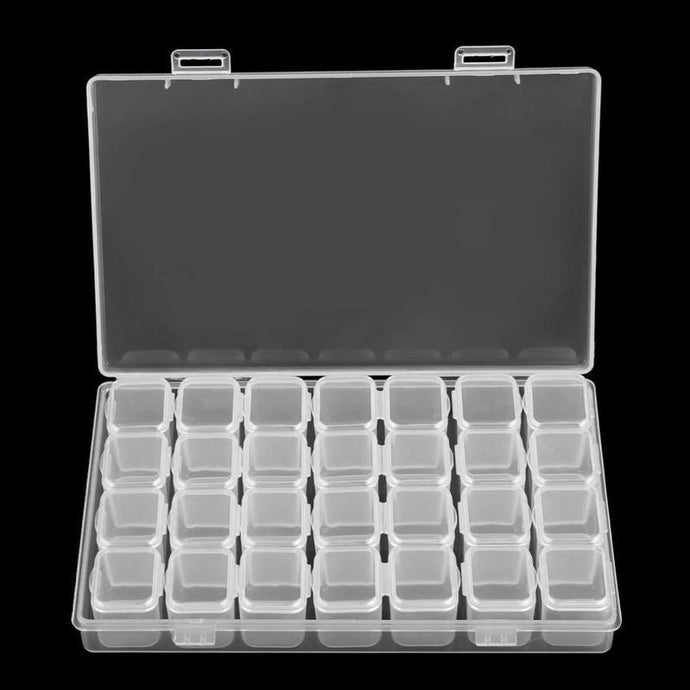 28 Slots Storage Box Organizer Holder - Find Home Supplies
