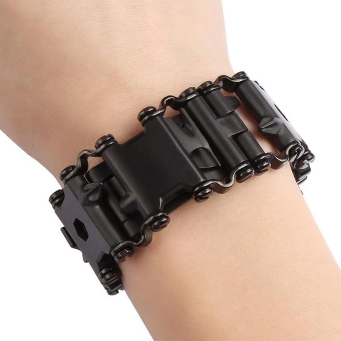 29 In 1 Multi-Tool Wearable Stainless Steel Bracelet - Find Home Supplies
