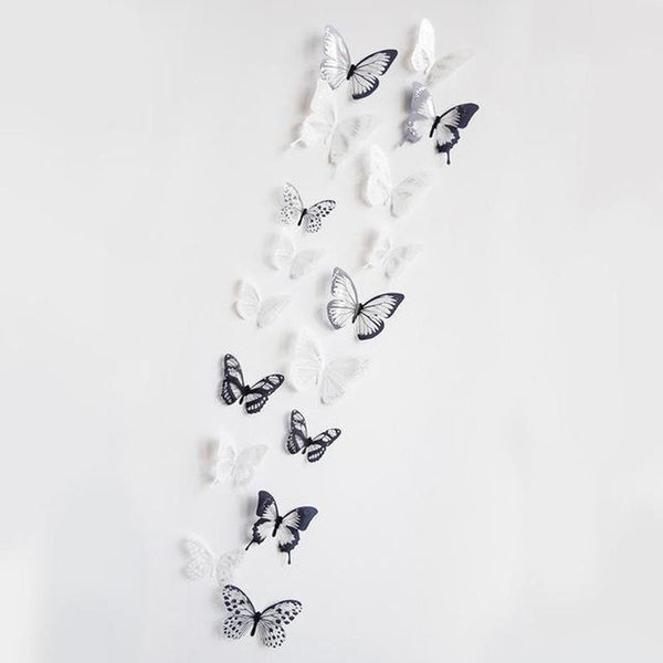 3D Crystal Butterflies Wall Sticker - Find Home Supplies