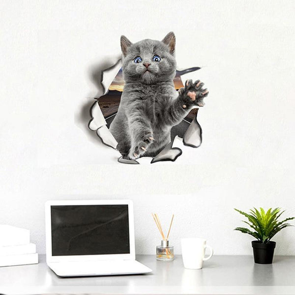 3D Cute Animals Wall Sticker - Find Home Supplies