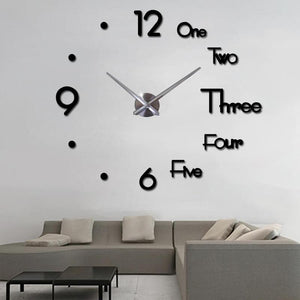 3D Large Wall Clock - Find Home Supplies