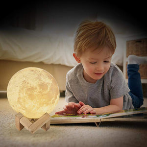 3D Light Moon Lamp - Find Home Supplies