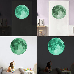 3D Moon Glow Wall Stickers - Find Home Supplies