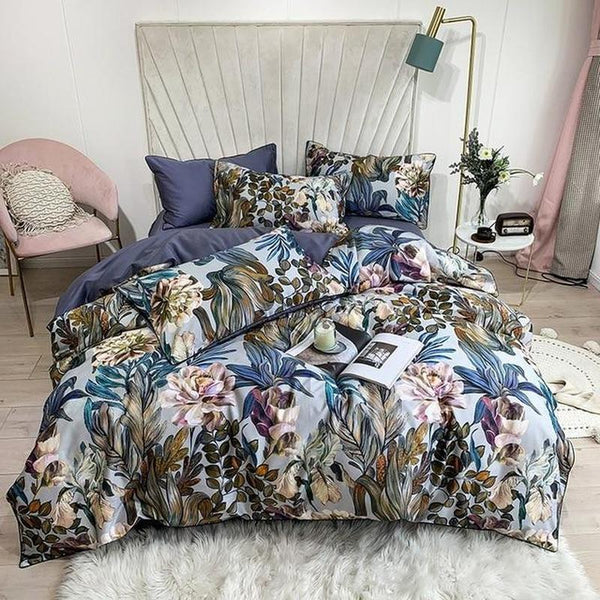 Botanical Floral Duvet Cover Set - Find Home Supplies