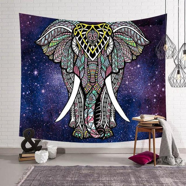 Elephant Mandala Wall Hanging Tapestry (16 Patterns) - Find Home Supplies