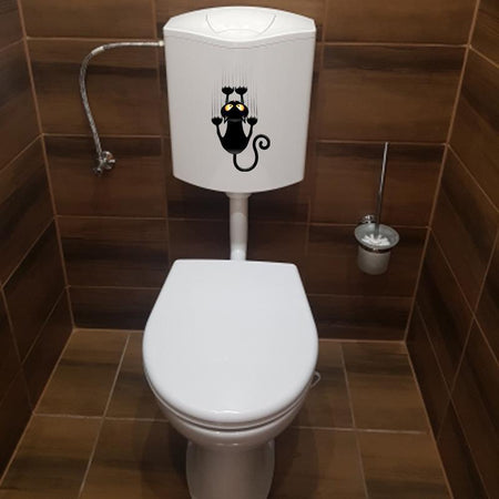 Funny Claw Cat Toilet Sticker - Find Home Supplies
