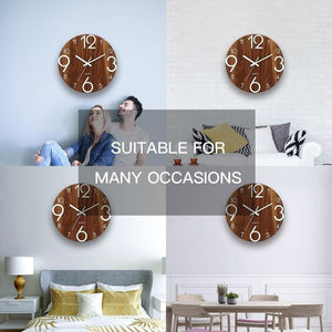 Glowing Wooden Wall Clock - Find Home Supplies