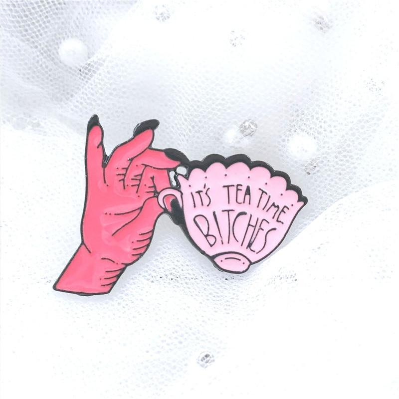 Hand Cup Enamel Pin-Find Home Supplies
