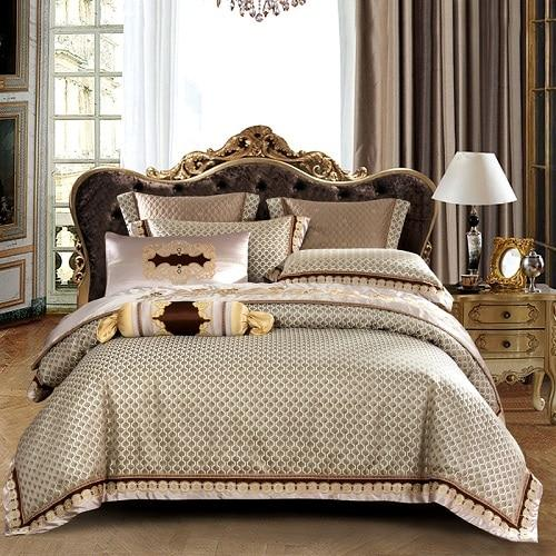 Jacquard Satin Silk Royal Bedding Set - Find Home Supplies