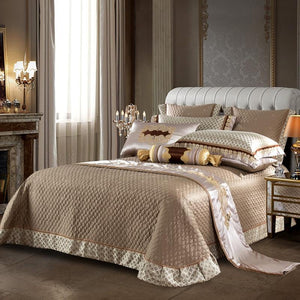 Jacquard Satin Silk Royal Bedding Set