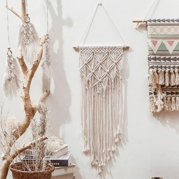 Macrame Woven Wall Hanging Tapestry (8 Patterns)-Find Home Supplies