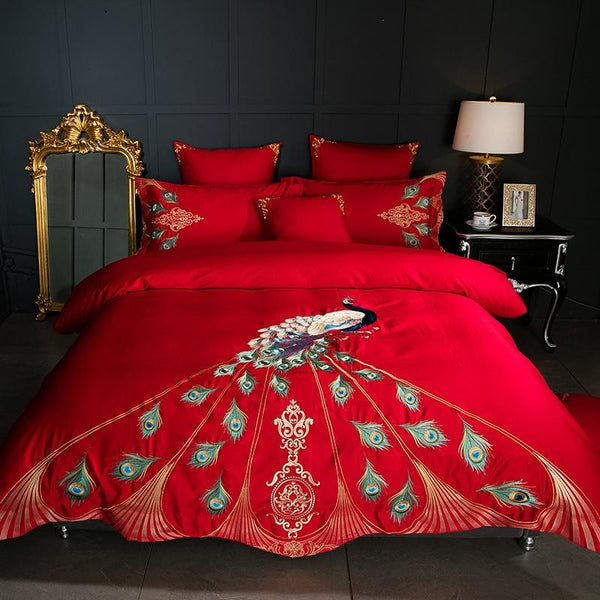 Peacock 600TC Egyptian Cotton Soft Duvet Cover Set