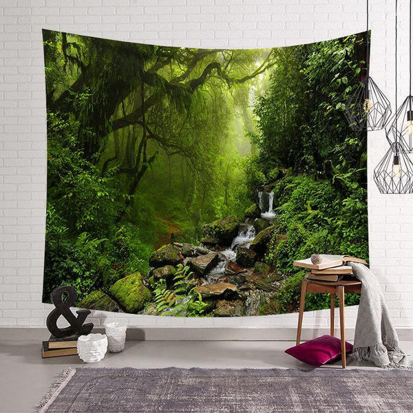 Psychedelic Forest Wall Hanging Tapestry (12 Patterns)-Find Home Supplies