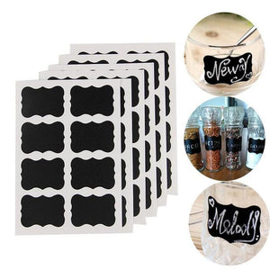 Reusable Chalkboard Sticker Labels (49 PCS)-Find Home Supplies