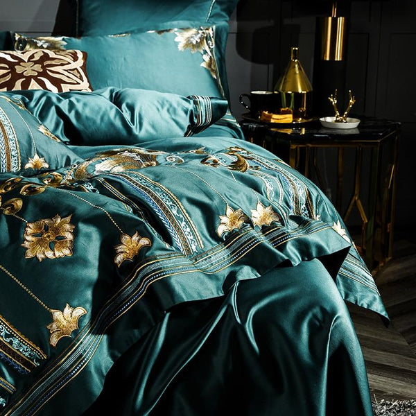 Royal Green 1000TC Egyptian Cotton Duvet Cover Set
