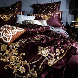 Royal Rose 1000TC Egyptian Cotton Duvet Cover Set
