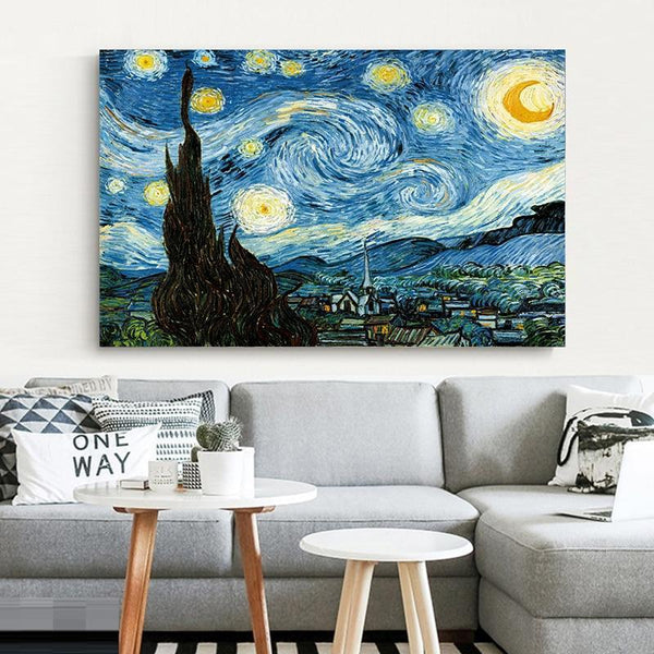 Starry Night Wall Poster-Find Home Supplies