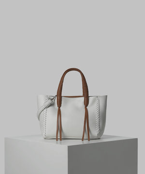 Jasmine Amande Mini Tote | White (CLEARANCE) - Susie O's Handbags