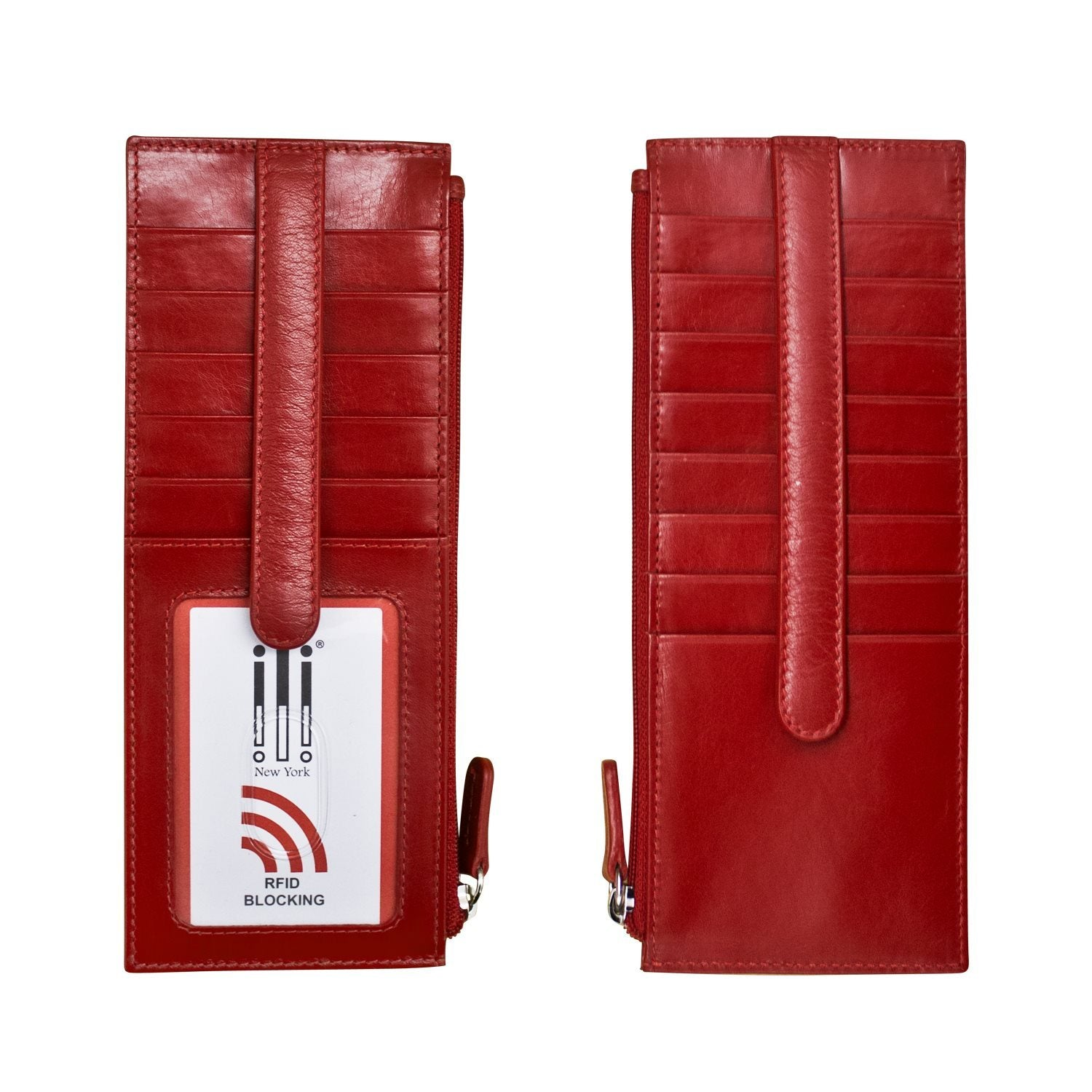 Double Sided Card Holder | Red - Susie O's Handbags