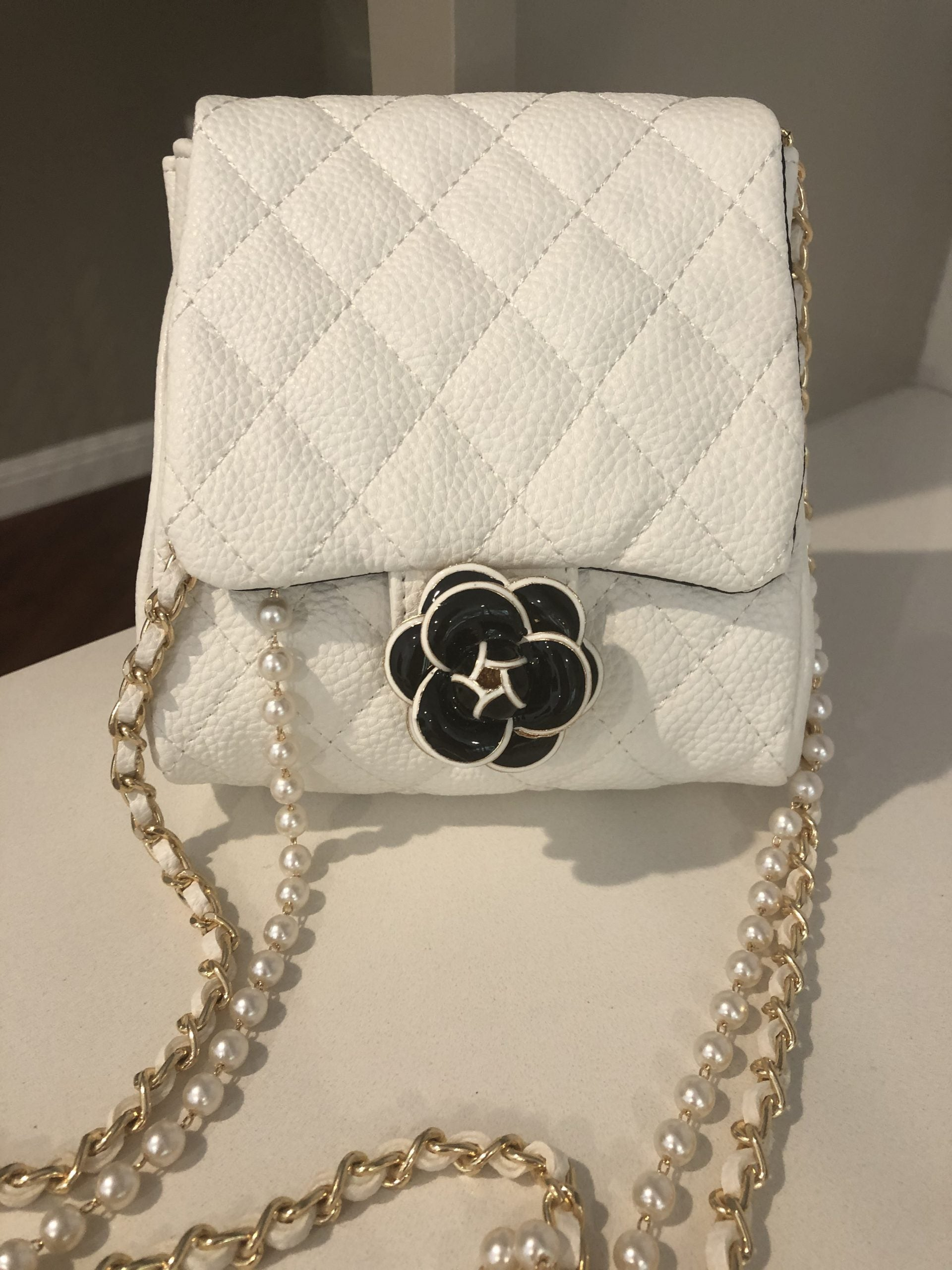 """Chanel-like"" Petite Quilted Crossbody 