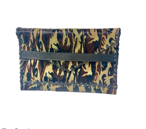 Polka Envelope Clutch | Camo Haircalf - Susie O's Handbags
