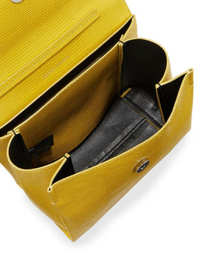 Chain Satchel | Sunflower Embossed Lizard (CLEARANCE) - Susie O's Handbags