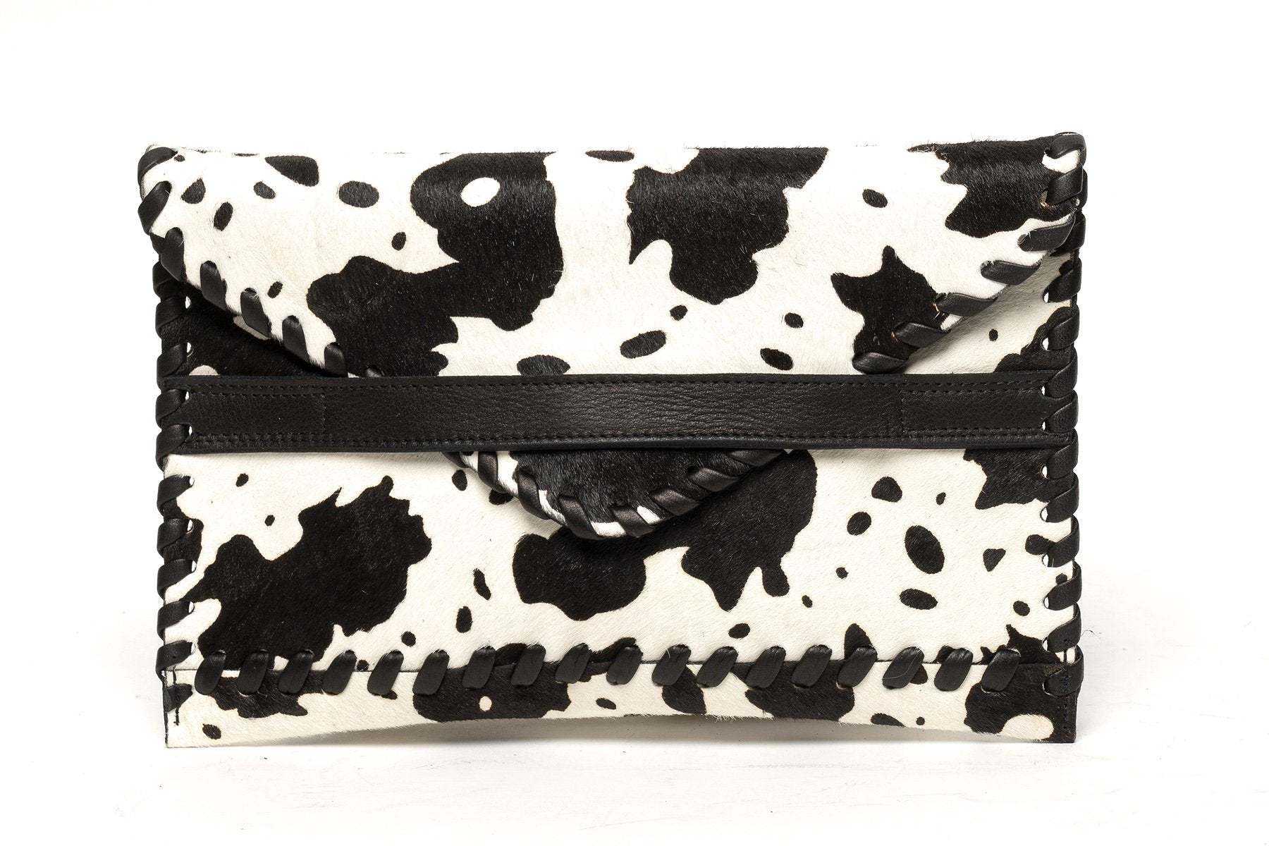 Polka Envelope Clutch | White Pony - Susie O's Handbags