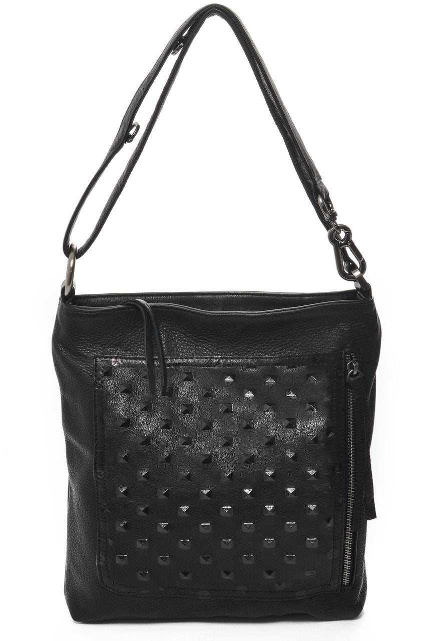 Riley Crossbody | Black Studded - Susie O's Handbags