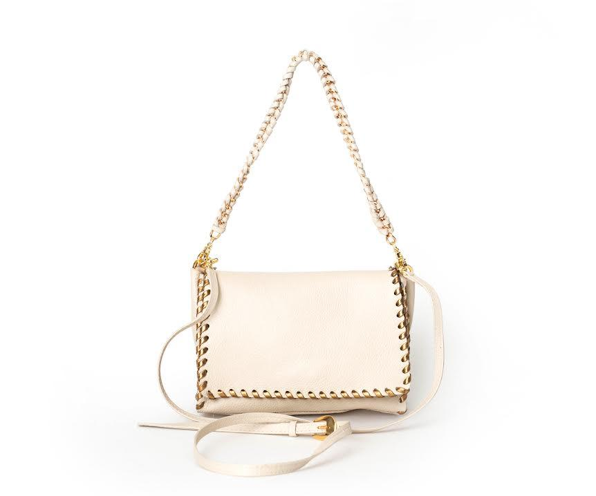 Rider Crossbody | Gold/Off-White - Susie O's Handbags