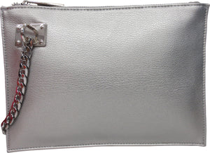 Wristlet with Chain Detail | Metallics (CLEARANCE) - Susie O's Handbags