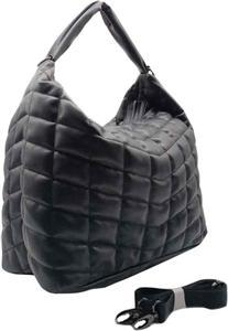 Quilted Hobo with Crossbody Strap | Black - Susie O's Handbags