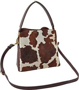 Small Bucket/Crossbody | Cow Print - Susie O's Handbags