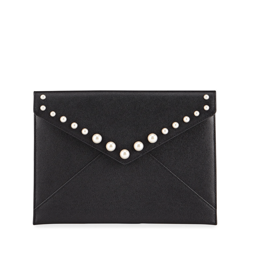 Leo Clutch with Pearl Studs - Susie O's Handbags