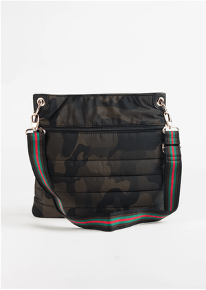 N/S Quilted Crossbody | Camo with Red Trim - Susie O's Handbags