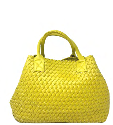 Woven Tote | Chartreuse - Susie O's Handbags