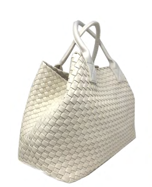 Woven Tote | Off White - Susie O's Handbags