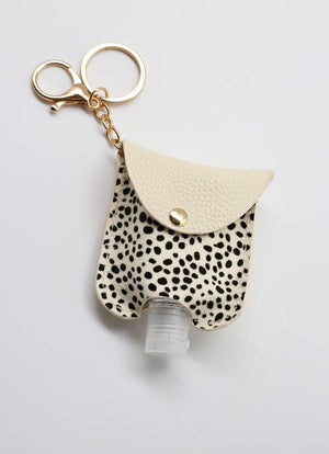 Animal Print Sanitizer Keychain | Black & White (SOLD OUT) - Susie O's Handbags