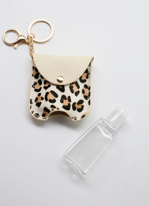 Animal Print Sanitizer Keychain | Brown  (SOLD OUT) - Susie O's Handbags