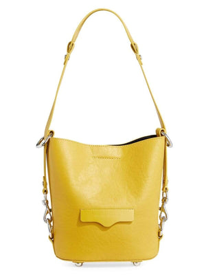 Small Utility Convertible Leather Bucket Bag - Susie O's Handbags