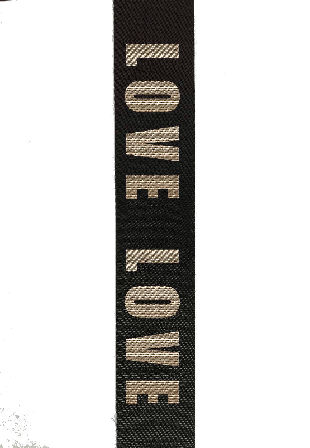 Bag Strap | Black/Black Love - Susie O's Handbags