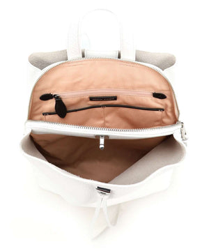 Darren Backpack | Optic White - Susie O's Handbags
