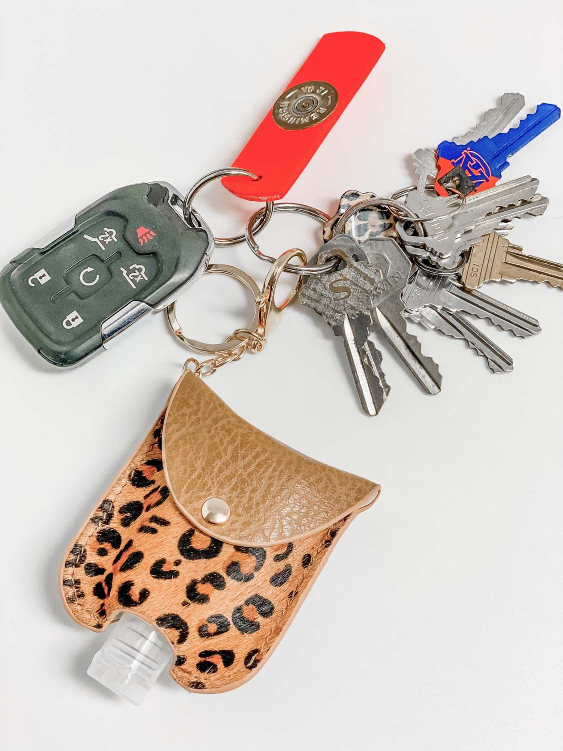 Bolling Animal Print Sanitizer Keychain | Ivory