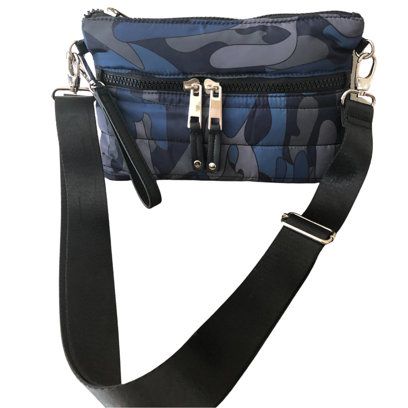 Mini Puffer Crossbody | Blue Camo (other colors available by request) - Susie O's Handbags
