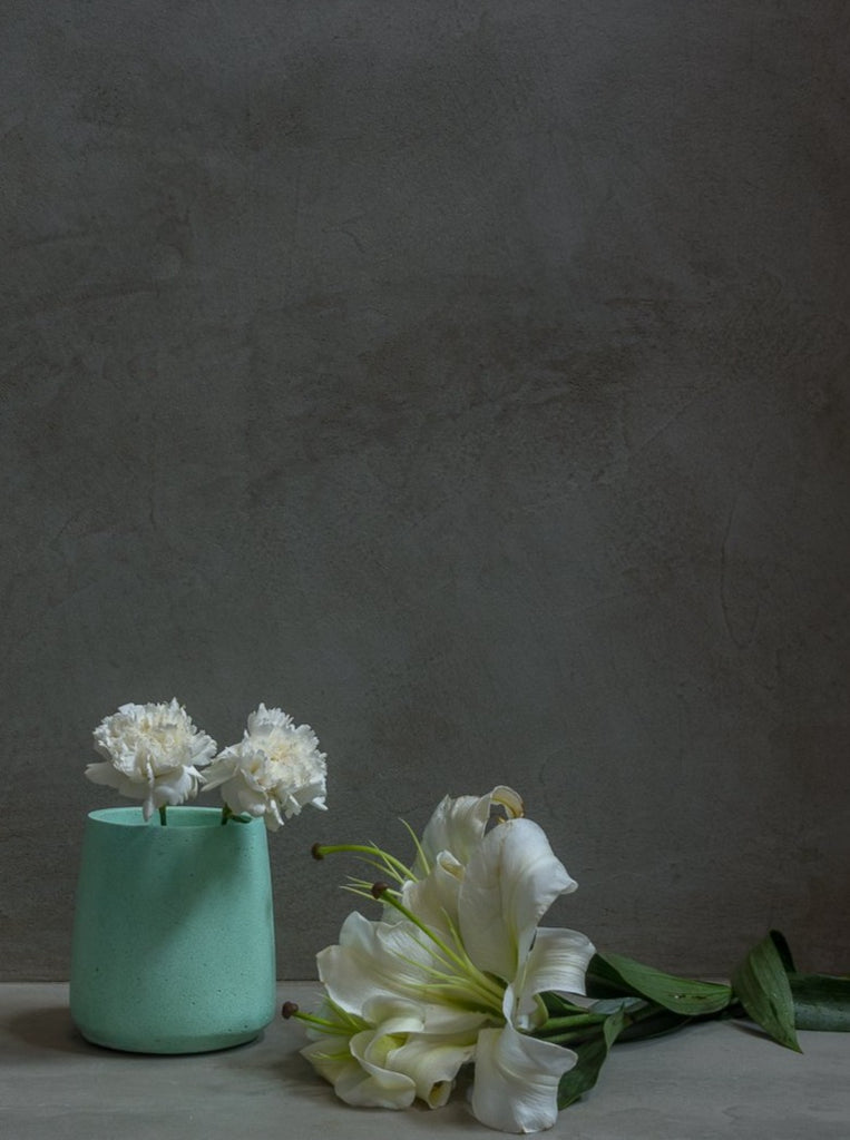 Concrete Tinted Vase in Green-Vazo Collection