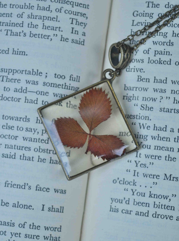 Strawberry Leaf Necklace