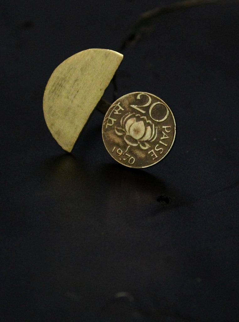 20 Paise Semicircle Split Ring