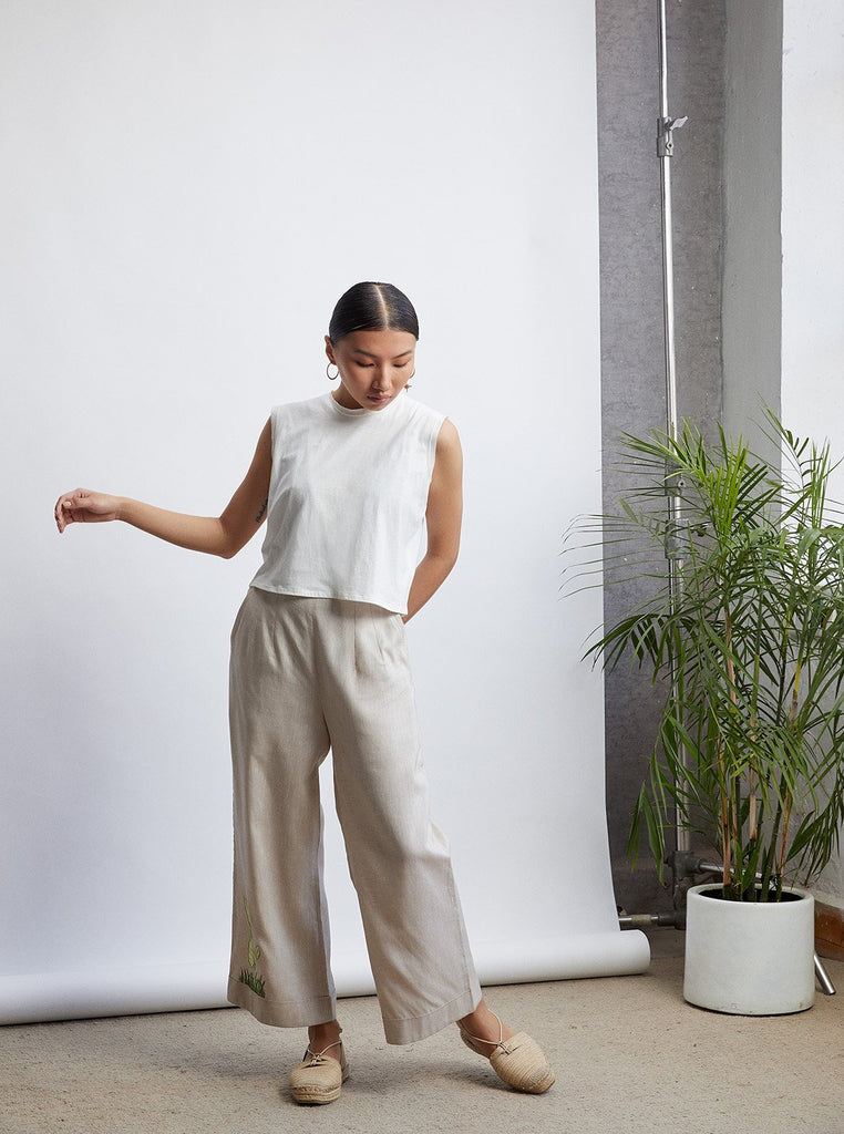 The Easy Linen Wideleg Trousers