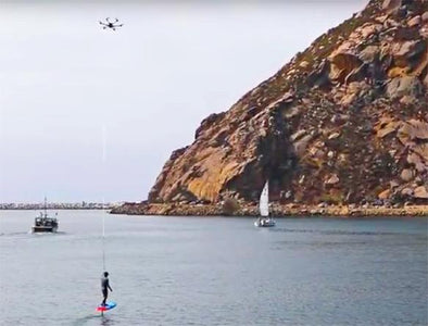 Drone Foil Boarding with Kiteboarder Jason Lee - Azhiaziam