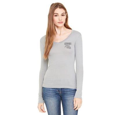 Azhiaziam Octopus Long Sleeve V-Neck - Azhiaziam